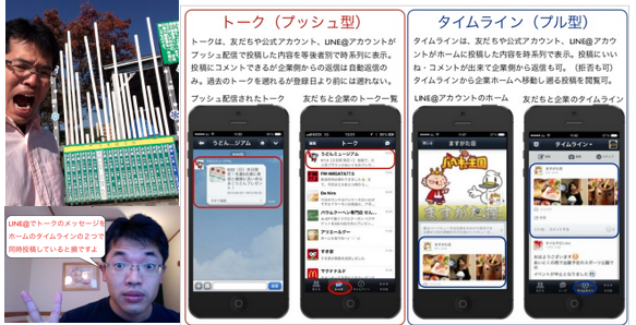 LINE@トークとタイムライン、ホームは特性で使い分けを http://yokotashurin.com/sns/line-different.html