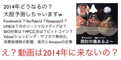 ネットビジネス・アナリスト横田秀珠が2014年を予測する https://yokotashurin.com/etc/2014net-business.html