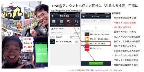 LINE@アカウントも友だちと同様に「ふるふる検索」可能に http://yokotashurin.com/sns/line-furufuru.html