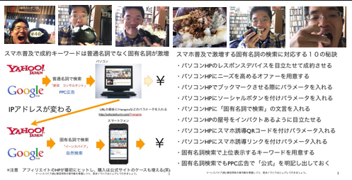 スマホ普及で成約キーワードは普通名詞でなく固有名詞が激増 http://yokotashurin.com/seo/smartphone-keyword.html