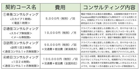 新潟WEBコンサルタントのITコンサルティング4メニュー