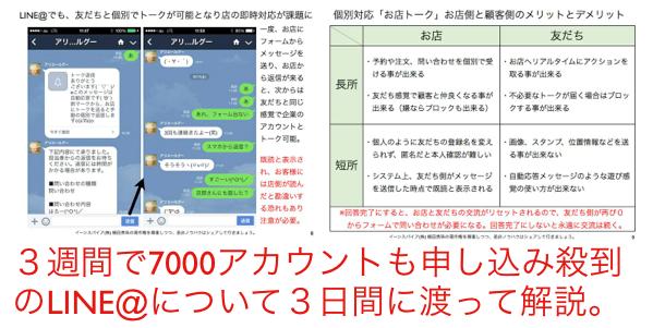 LINE@お店トーク(手動・個別対応)と自動返信メッセージ違い