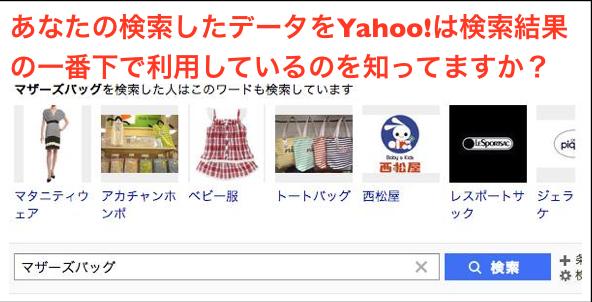 Yahoo!「○○」を検索した人はこのワードも検索しています