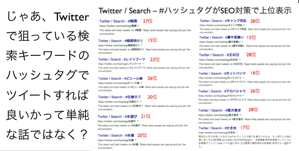 Twitter / Search - #ハッシュタグがSEO対策で上位表示