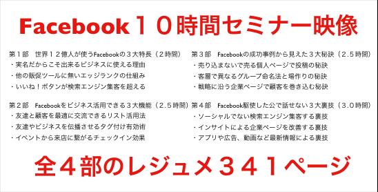Facebook10時間セミナー(全4回その4)Facebook駆使した公で話せない3大裏技