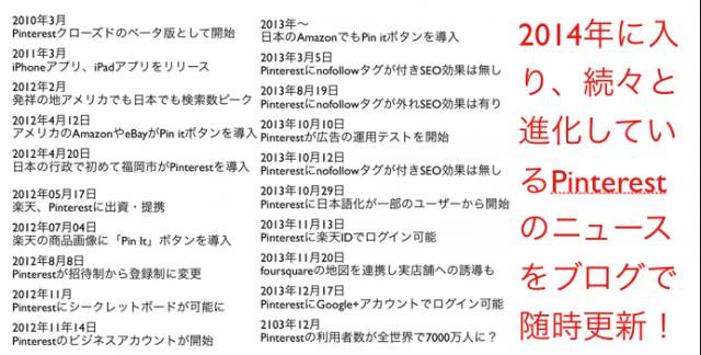 Pinterestセミナー3時間・冒頭「Pinterestの歴史:随時更新」(岡山県)備中西商工会