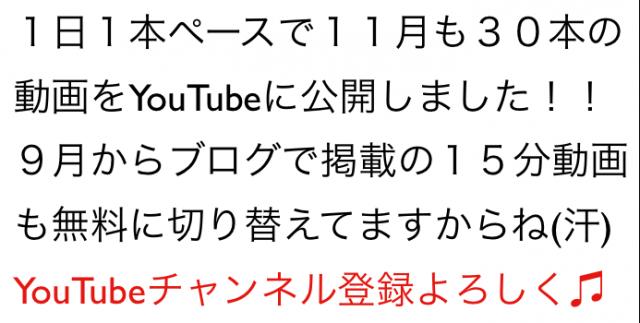 2014年11月のハウツー&レビュー無料YouTube動画30本