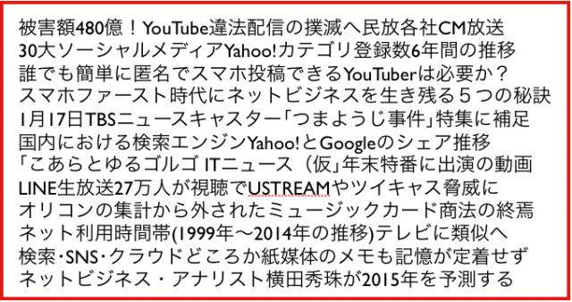 ネットビジネス・アナリスト2015年1月ブログいいね!分析