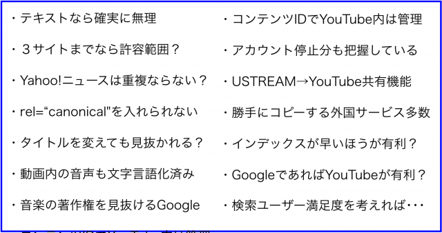 YouTube、Facebook、USTREAM、Vimeoなどに同じ動画をアップすると、重複コンテンツでスパムか?