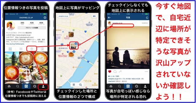 チェックイン無しでも特定でき自宅がバレる?Instagramで位置情報を地図から削除する方法
