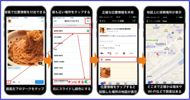 Twitter「正確な位置情報を共有」はTweet ATOKで地図表示