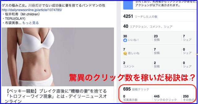2016年1月Facebookページ投稿クリック数ランキング20