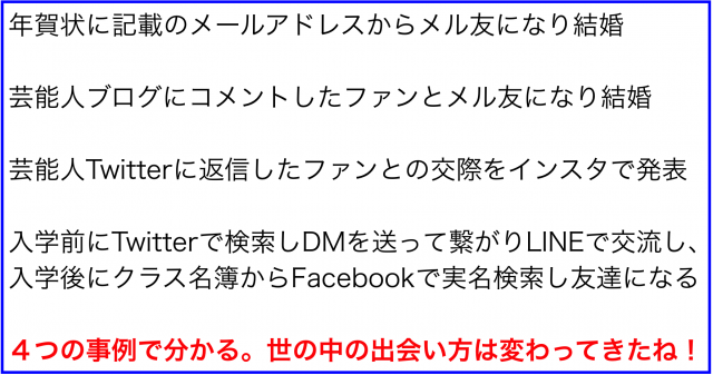 メール・ブログ・Twitter・Facebook・LINE・インスタで繋がる
