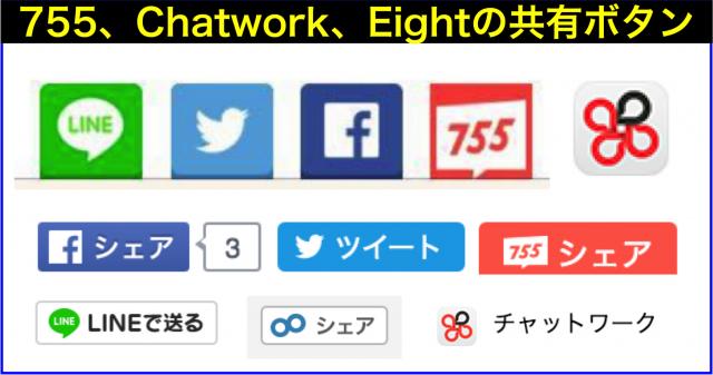 755・chatwork・Eightに共有(シェア)ボタン登場⇒設置方法
