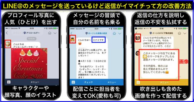 LINE@プッシュ通知に返信メッセージもらいやすくする方法