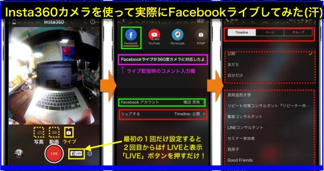 Facebookライブが360度カメラ対応FacebookページもOK