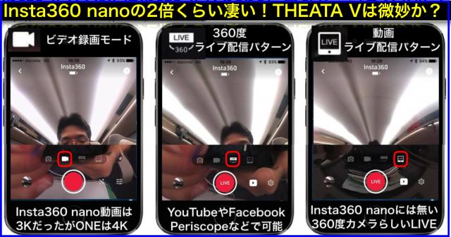 360度カメラInsta360 ONE vs RICOH THETA Vレビュー
