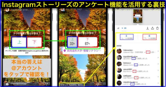 Instagramストーリーズでアンケート機能(投票)活用する方法