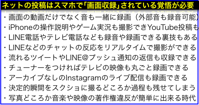 iOS11の「画面収録」機能は動画や音楽の著作権違反を助長する