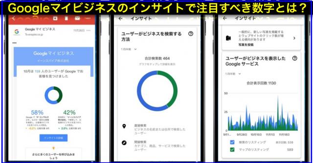 Googleマイビジネス:直接検索と間接検索、検索と地図に注目