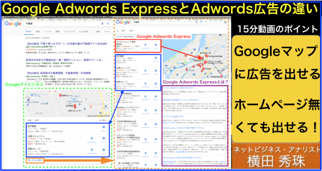 Googleマップにも出せる広告「GoogleAdWords Express」