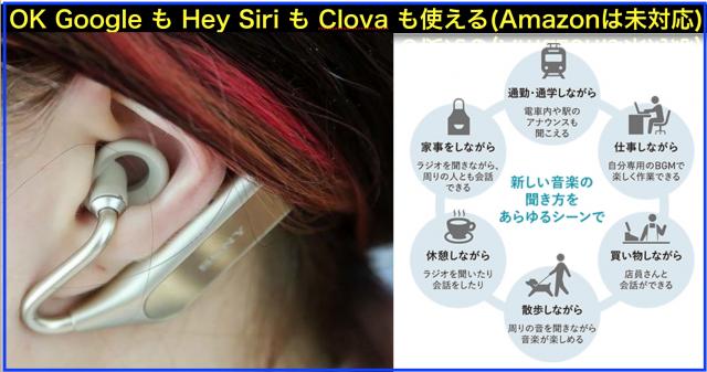 ヒアラブルIoTデバイスのワイヤレスイヤホンXperia Ear Duo「XEA20」(SONY)レビュー