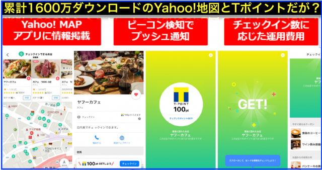 Yahoo!マップ(地図)集客にTポイント連動チェックインとは?