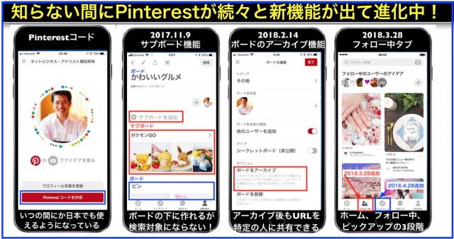 Pinterestコード:ボード・サブボード・ピン並替・フォロータブ