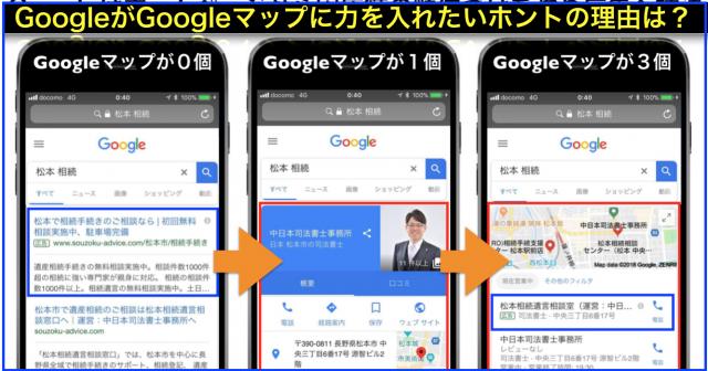 Googleはホームページから実店舗の順位づけを強め広告誘導