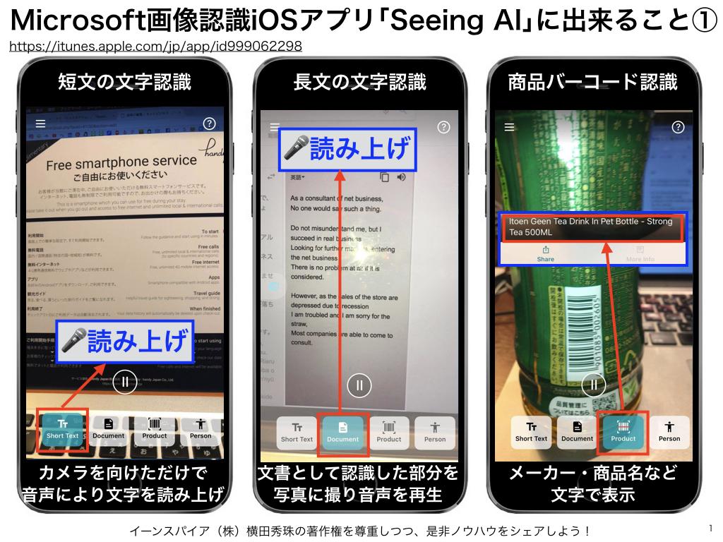 Microsoftアプリ「Seeing AI」で人工知能は目を手に入れた
