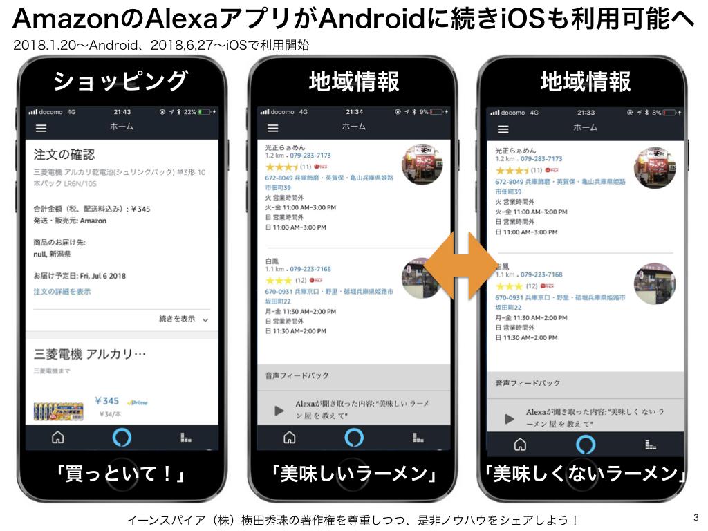 AmazonのAlexaアプリがAndroidに続きiOSも利用可能へ