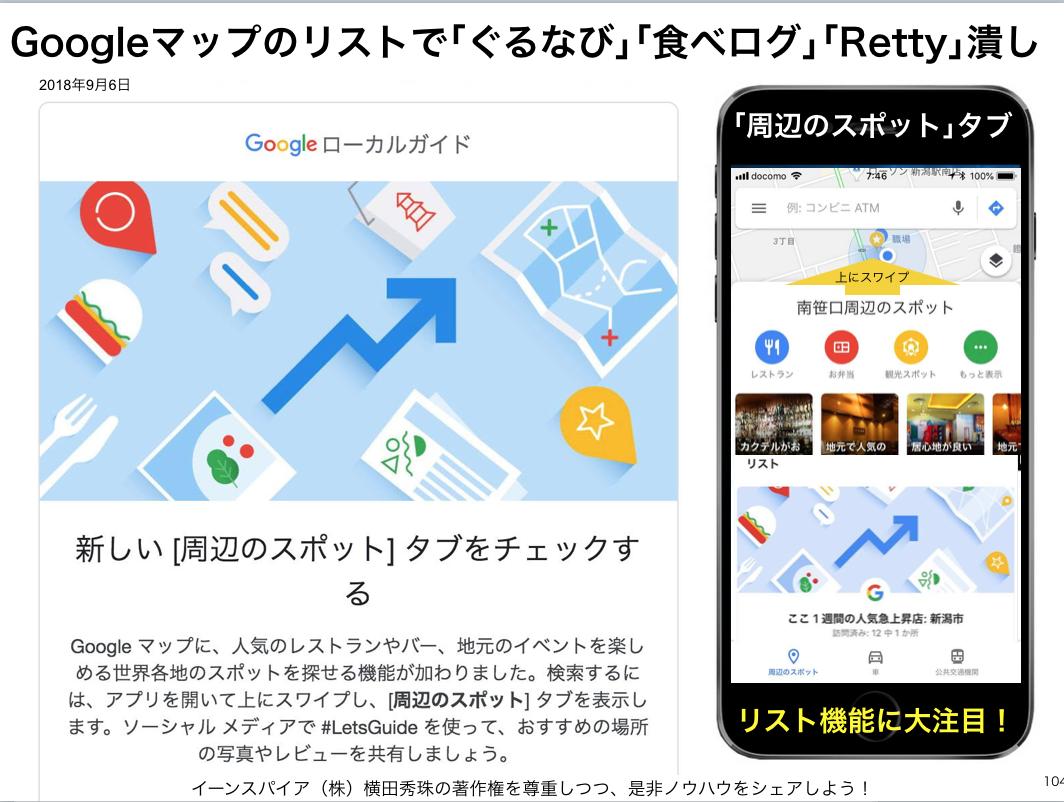 Googleマップのリストで「ぐるなび」「食べログ」「Retty」潰し
