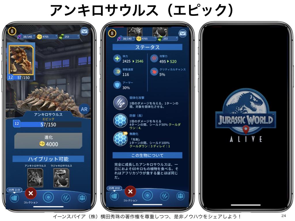 Jurassic World Alive!ジュラシックワールド アライブ図鑑