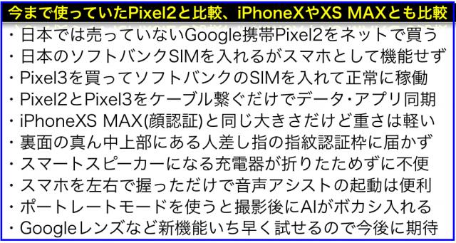 Google純正スマホ「Google Pixel 3 XL」比較レビュー使用感