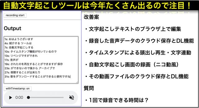 タイムスタンプ付きAIによる音声の自動文字起こし無料ツール