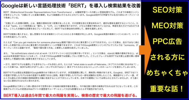 SEO・MEO・PPC対策に必須Google新言語処理技術「BERT」