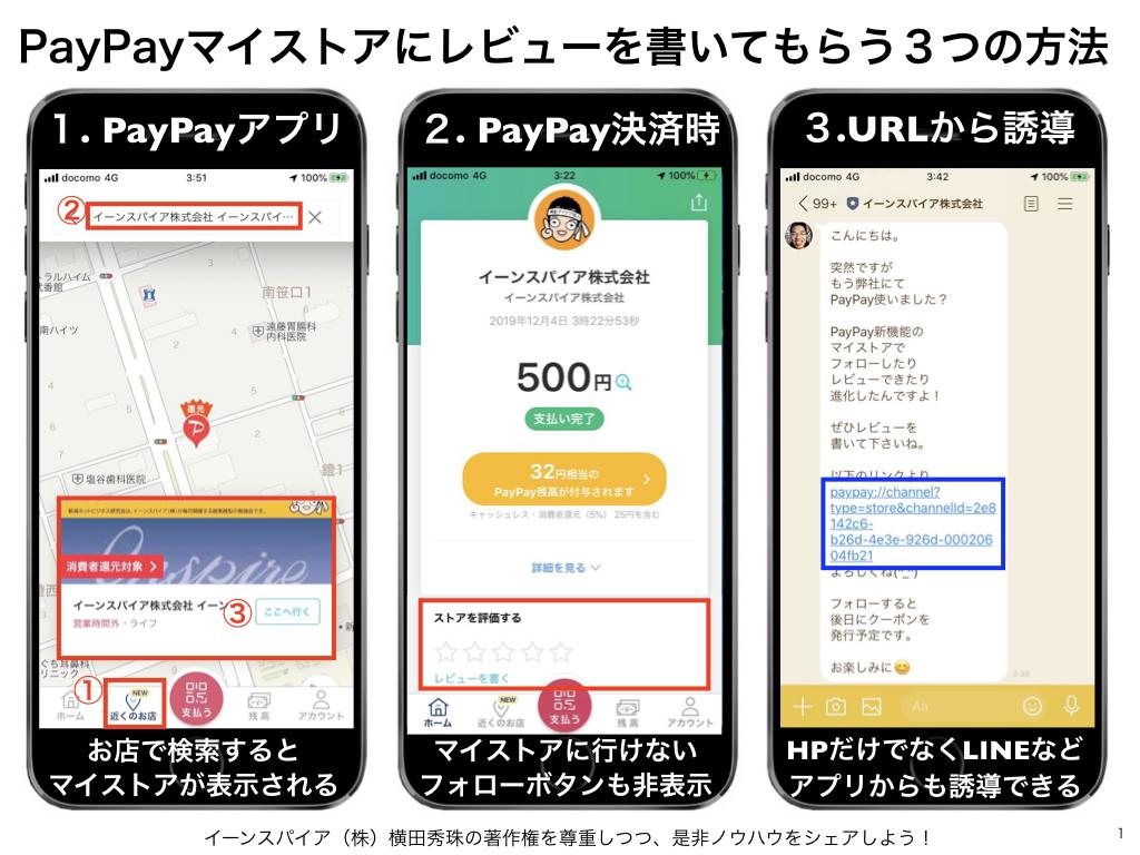 PayPayマイストアにレビューを書いてもらう3つの方法