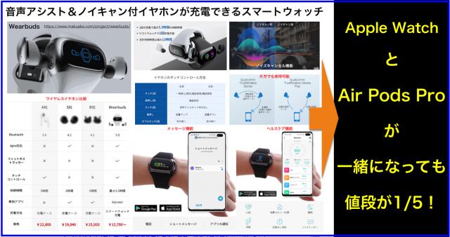 音声アシスト&ノイキャン付イヤホンが充電できるIoT腕時計