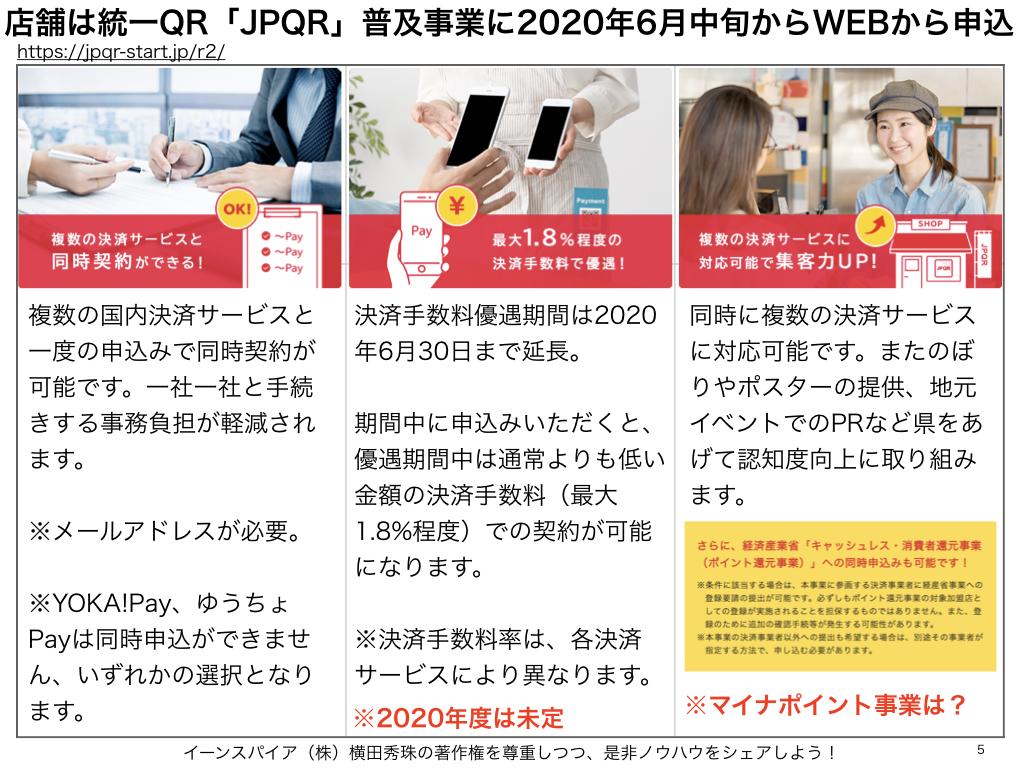 総務省 統一QR「JPQR」普及事業2020キャッシュレス決済業者