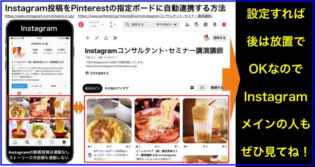 Instagram投稿をPinterestの指定ボードに自動連携する方法