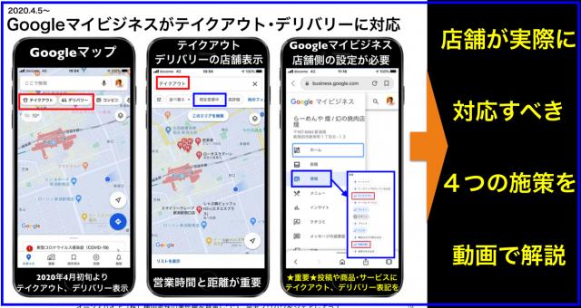 Googleマイビジネスのテイクアウト・デリバリー対応の4施策