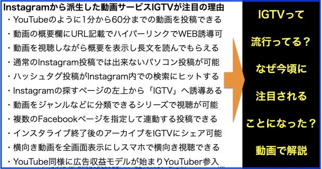 Instagramから派生の動画サービスIGTVが今となって注目の訳