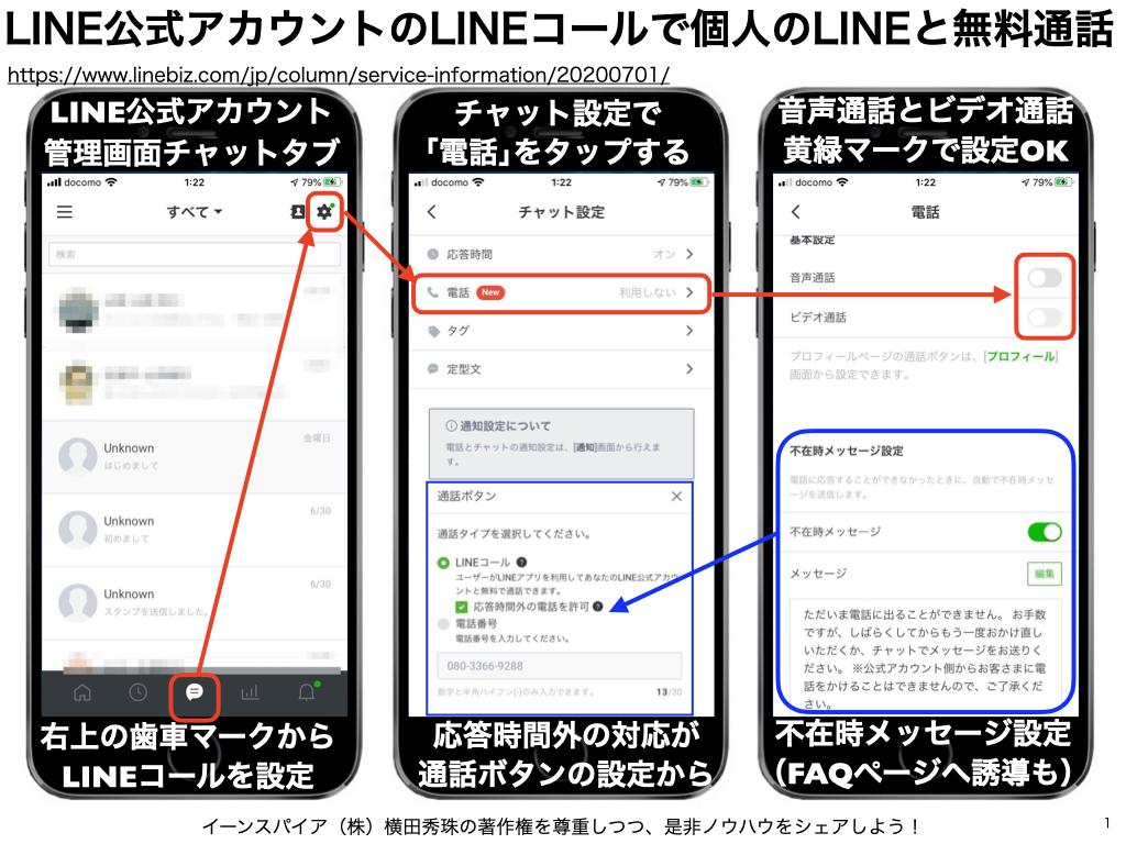 LINE公式アカウントのLINEコールでビデオ通話まで無料でOK