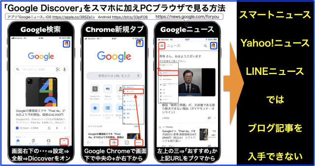 「Google Discover」をスマホに加えてPCブラウザで見る方法