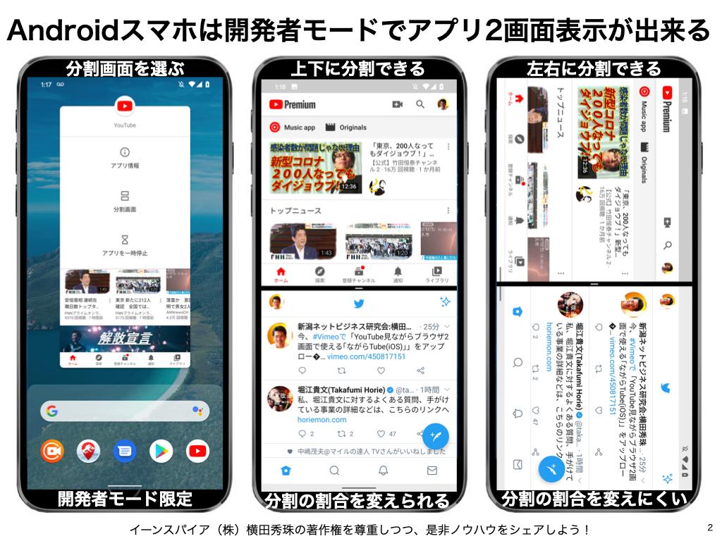 YouTube見ながらブラウザ2画面で使える「ながらTube(iOS)」