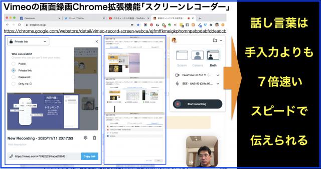 Vimeoで画面録画のChrome拡張機能「スクリーンレコーダー」