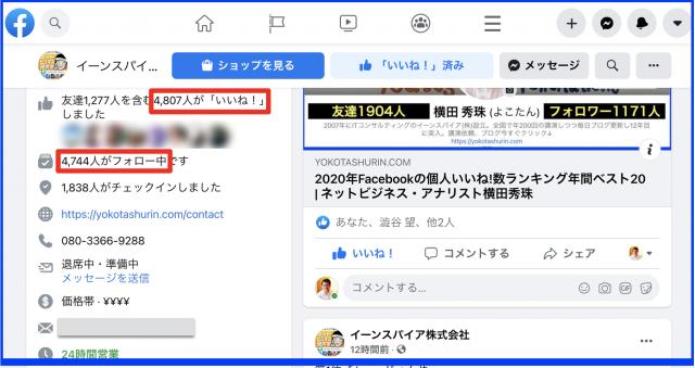 2020年12月度Facebookページ投稿いいね数ランキング20