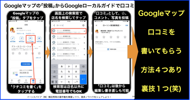 Googleマップに口コミを書いてもらう4つの方法(+裏技1つ)