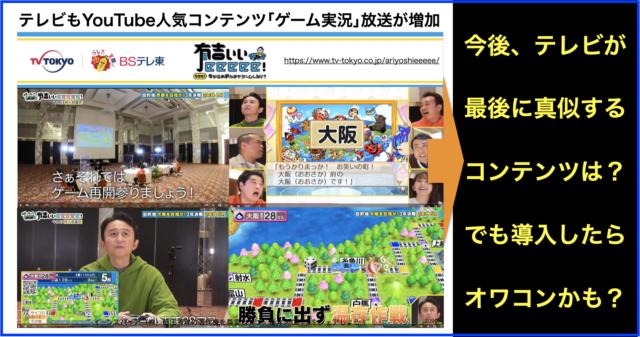 テレビもYouTubeで人気コンテンツ「ゲーム実況」放送が増加