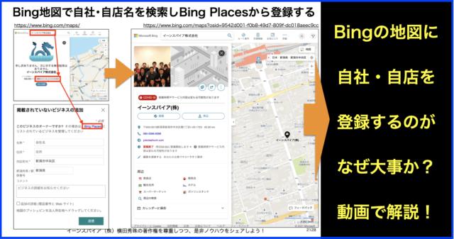 マイクロソフト:Bingマップ(地図)に自社・自店を登録する方法